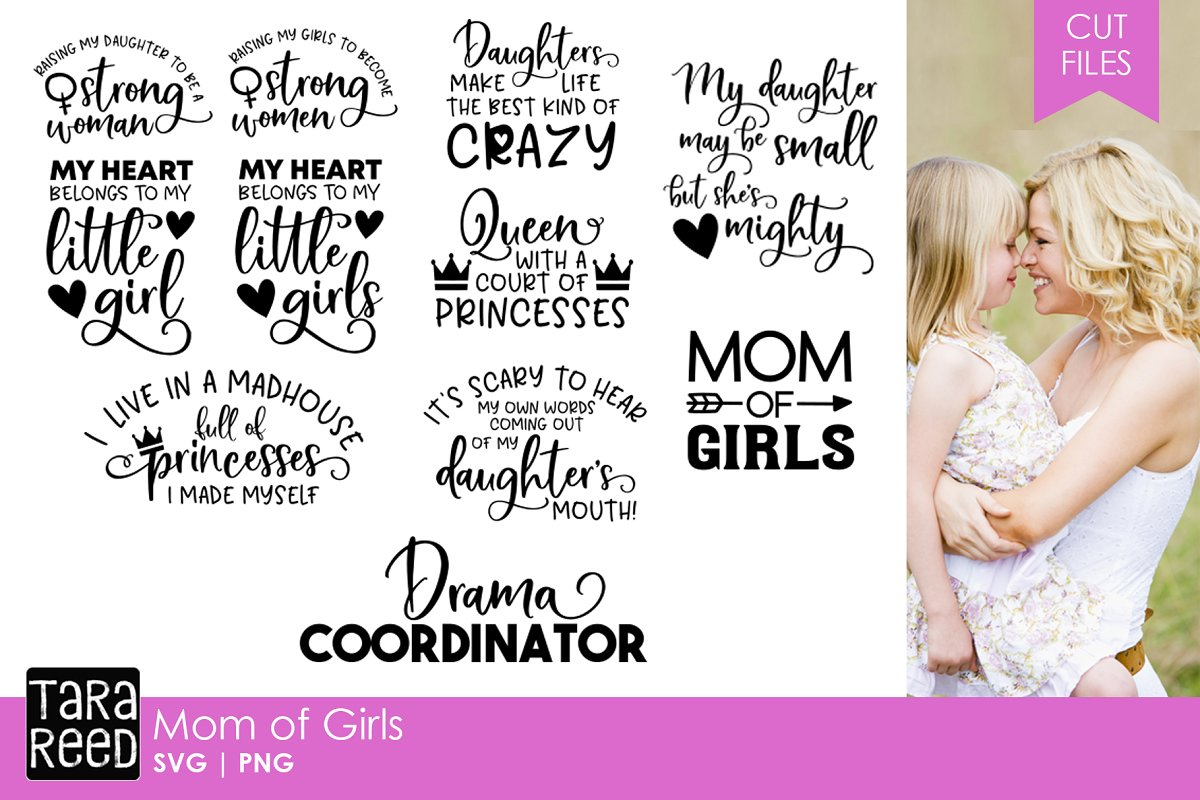 a5853d86242d8 Mom of Girls SVG Bundle