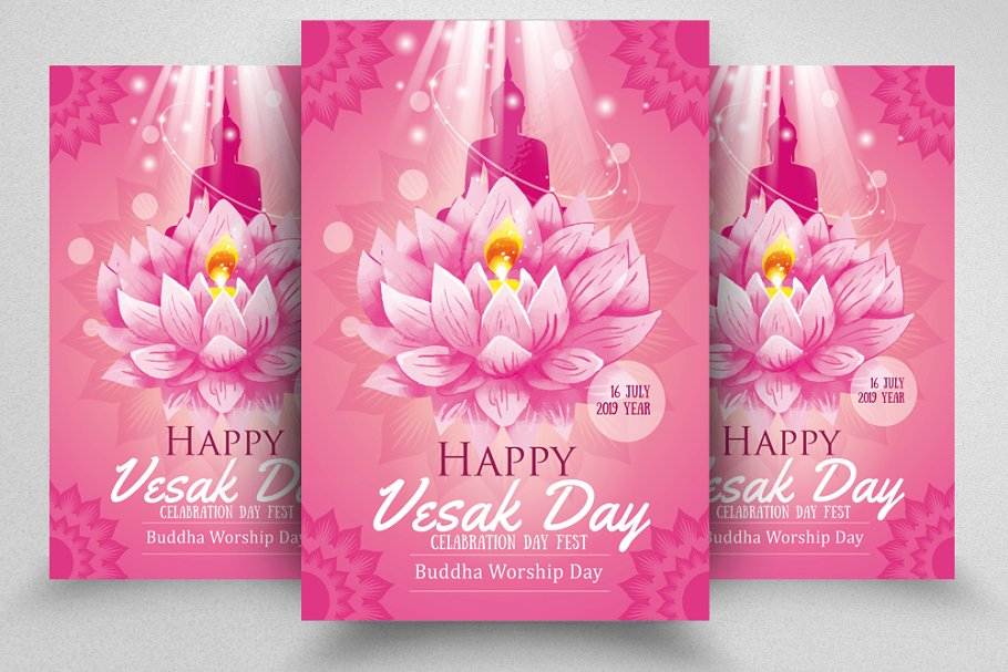 Budha Worship Flyer Template