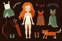 Dress up paper fairy doll