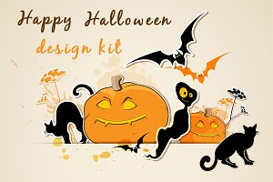 Halloween design kit