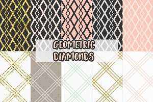 geometric diamond digital paper