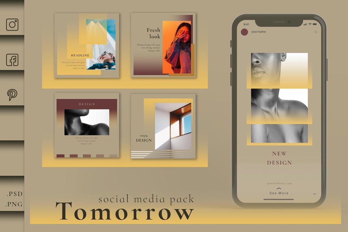 Tomorrow - Social Media Pack