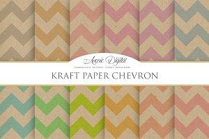 Kraft Paper Chevron Textures