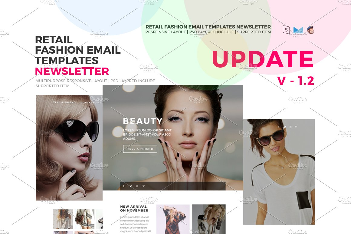 Responsive Fashion Email Templates Email Templates Creative Market