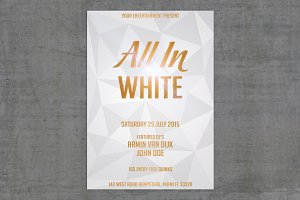 White Gold Party Flyer