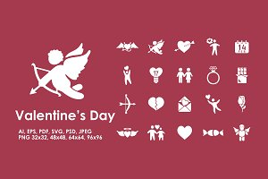 20 Valentine's Day icons