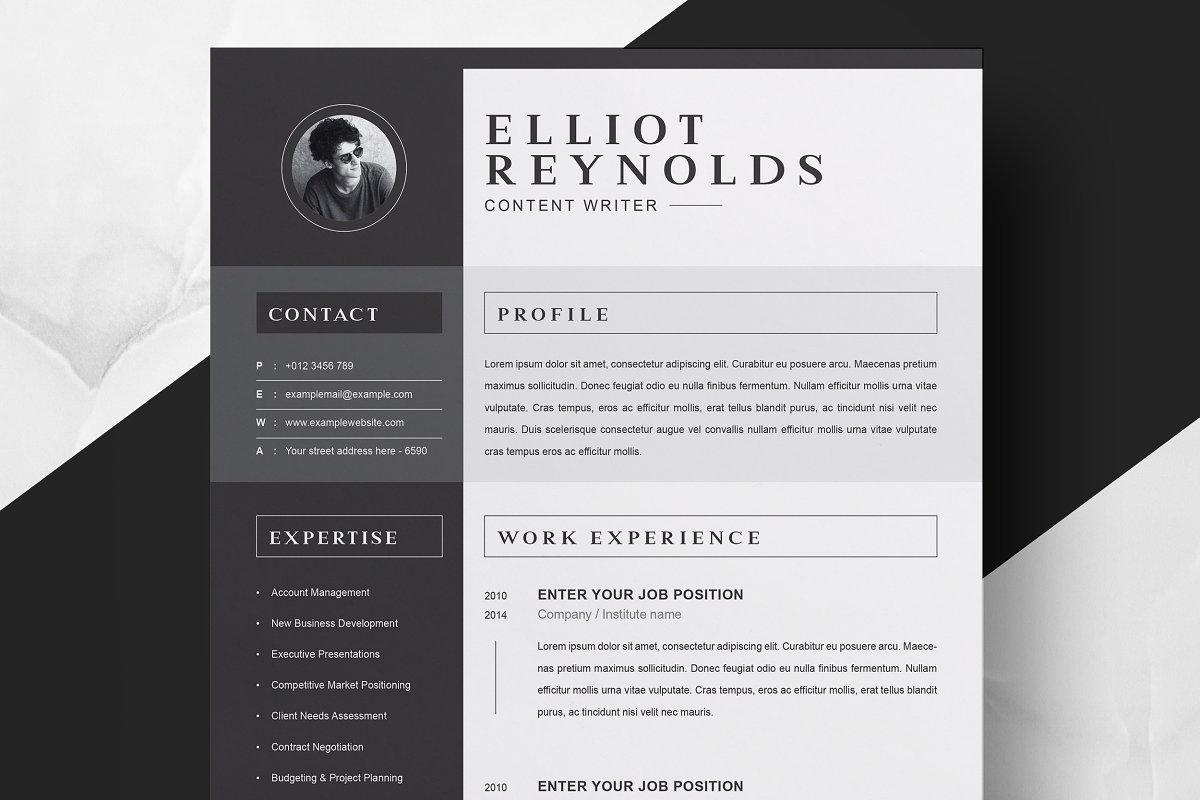 Professional Word Resume Cv Resume Templates Creative Market