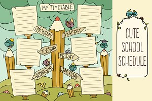Cartoon shedule for school