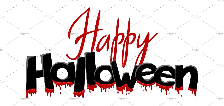 Happy Halloween Lettering Pre Designed Illustrator Graphics Creative Market