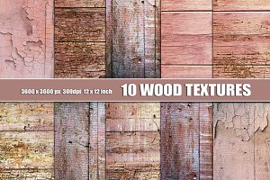 Pink Painted Wood Texture background