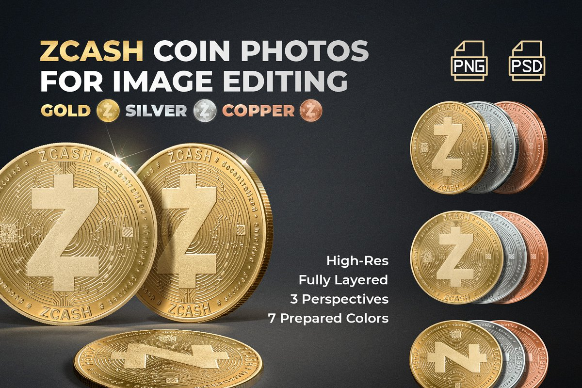 Zcash Coin Photos - ZEC Crypto in Objects