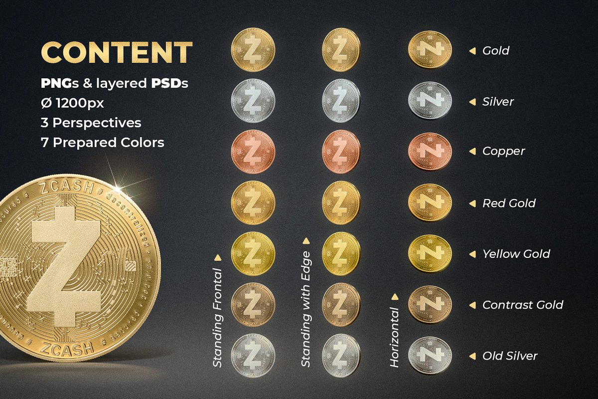 Zcash Coin Photos - ZEC Crypto in Objects - product preview 1