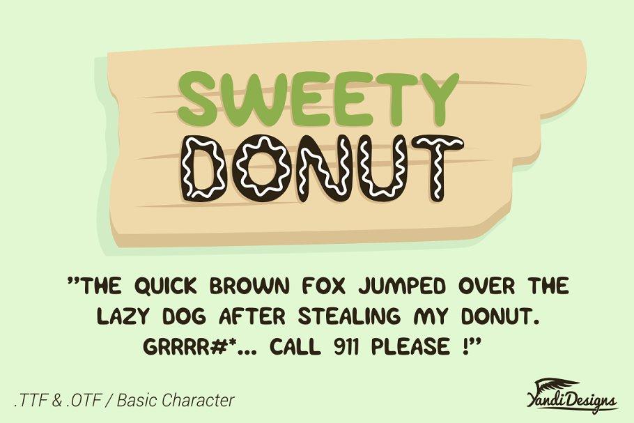 Sweety Donut Fonts - Fun Typo