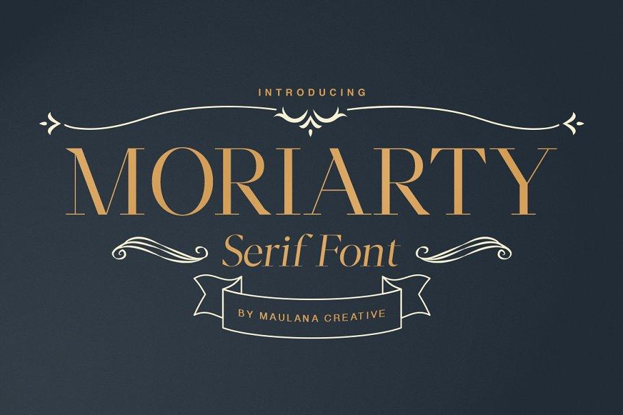 Moriarty Serif Font