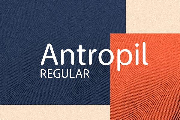 Antropil Regular font [30% OFF]