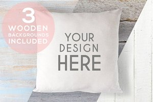 A167 Cushion Mock Up Stock Photo