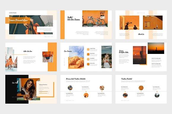 Samoa : Orange Color Google Slides in Google Slides Templates - product preview 1