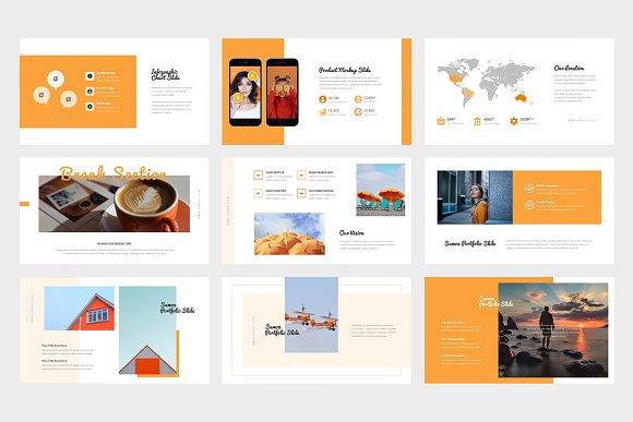 Samoa : Orange Color Google Slides in Google Slides Templates - product preview 2
