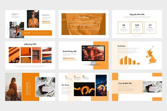 Samoa : Orange Color Google Slides in Google Slides Templates - product preview 3