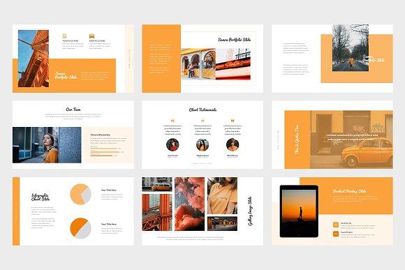 Samoa : Orange Color Google Slides in Google Slides Templates - product preview 4
