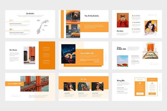 Samoa : Orange Color Google Slides in Google Slides Templates - product preview 5