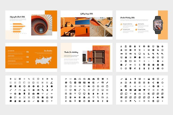 Samoa : Orange Color Google Slides in Google Slides Templates - product preview 6