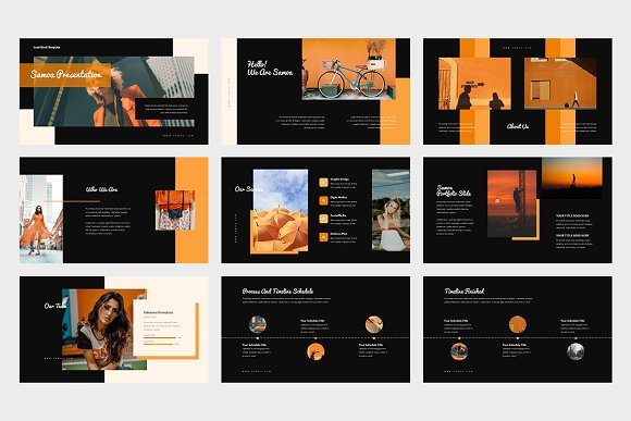 Samoa : Orange Color Google Slides in Google Slides Templates - product preview 7