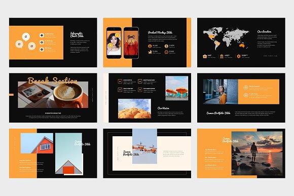 Samoa : Orange Color Google Slides in Google Slides Templates - product preview 8