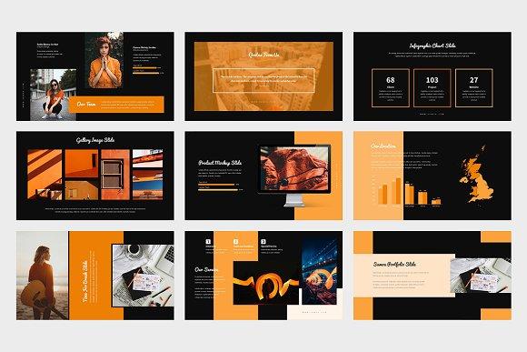 Samoa : Orange Color Google Slides in Google Slides Templates - product preview 9
