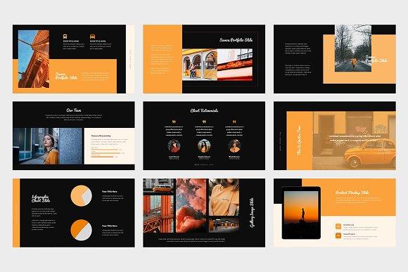 Samoa : Orange Color Google Slides in Google Slides Templates - product preview 10