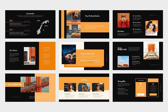 Samoa : Orange Color Google Slides in Google Slides Templates - product preview 11