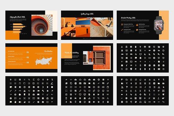 Samoa : Orange Color Google Slides in Google Slides Templates - product preview 12