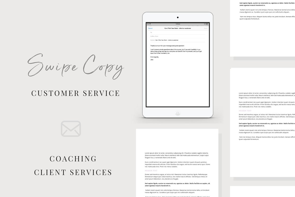 Email Swipe-Copy | Client Services