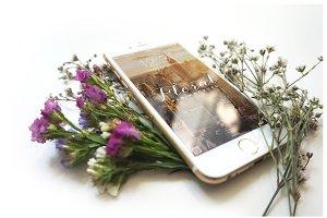Floral iPhone 6 Mockup - II