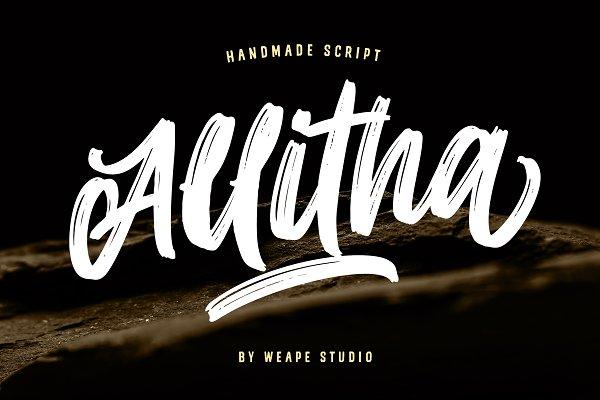 Allitha Handmade Script