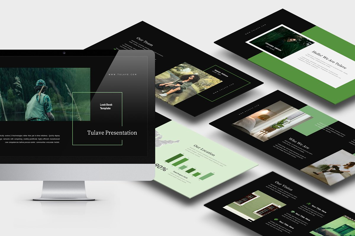 Tulave : Green Color Powerpoint