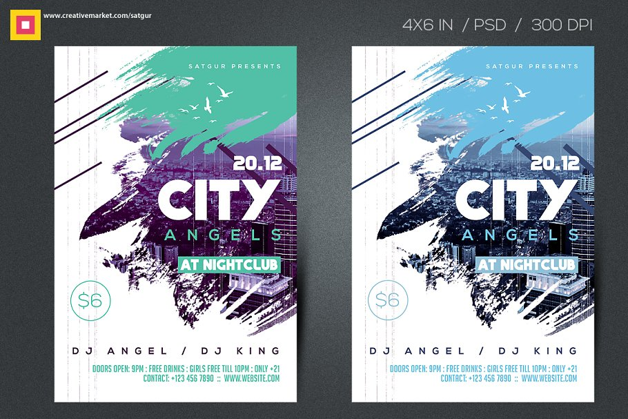 City Angels Party Flyer