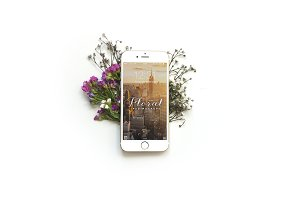 Floral iPhone 6 Mockup