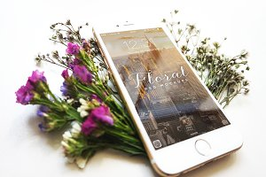 Floral iPhone 6 Mockup - VI