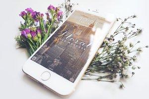 Floral iPhone 6 Mockup - V