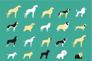 20 dog icons