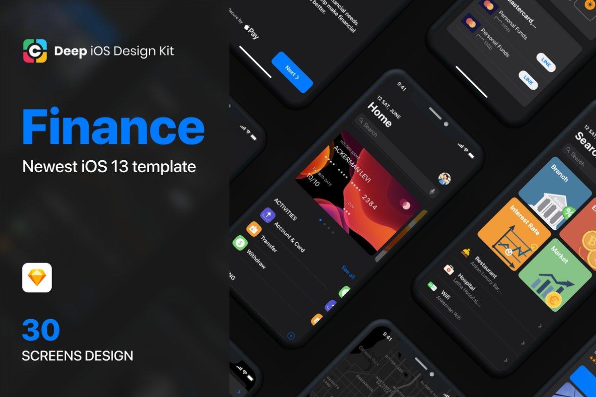 Cadeep - Finance App UI Kit design