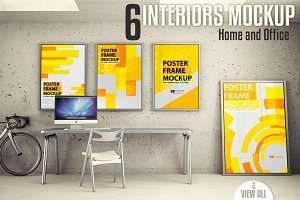 Interiors mock-up Vol. 2