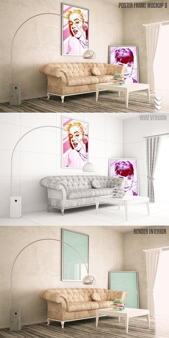 Interiors Mock Up Vol 2 Product Mockups Creative Market