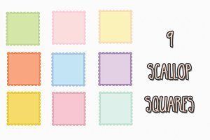 vector scallop squares