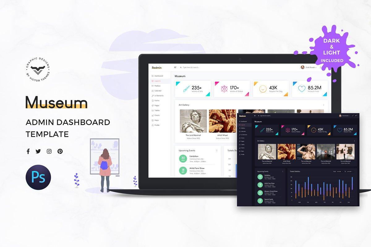 Museum Admin Dashboard UI Kit