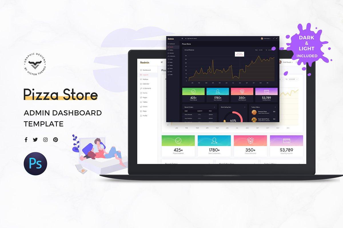 Pizza Store Admin Dashboard UI Kit