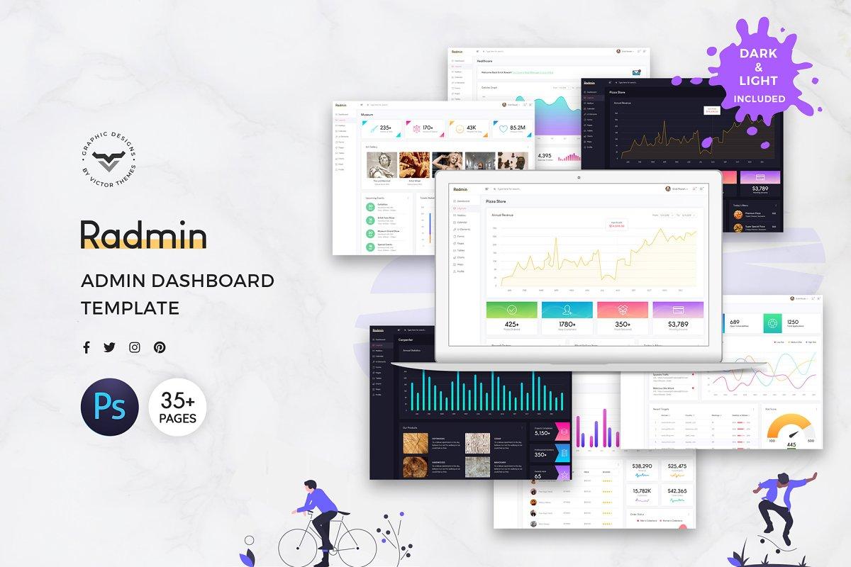 Radmin Admin Dashboard UI Kit