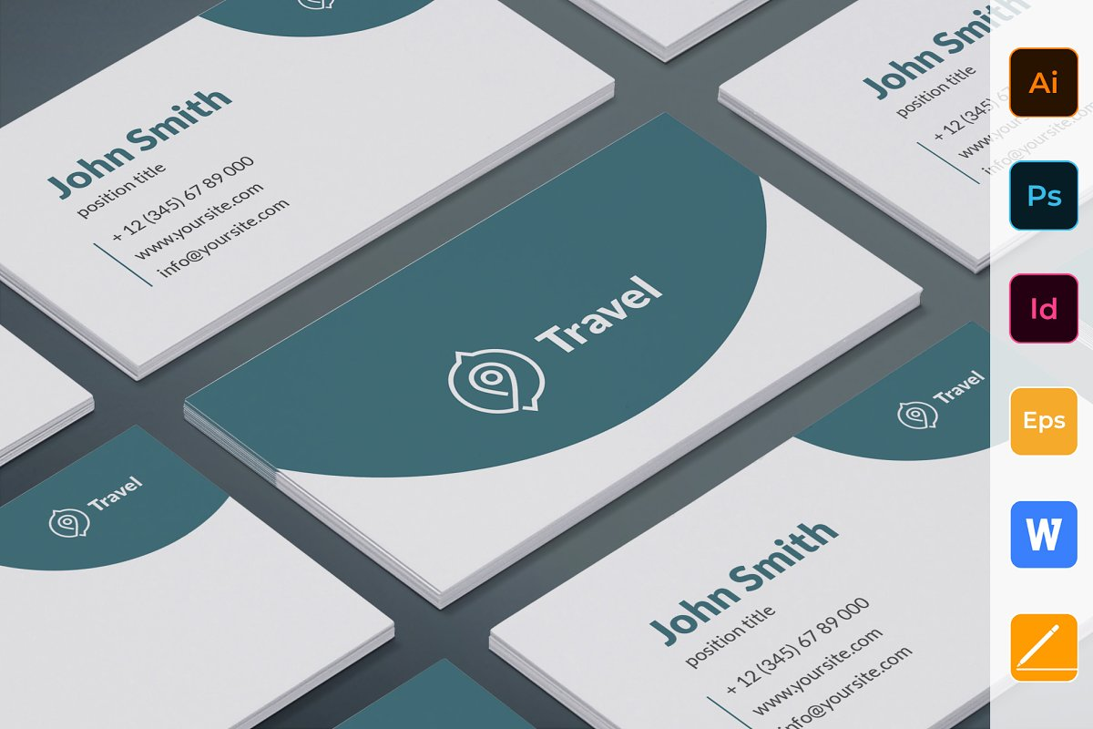 Travel Agent Agency Business Card