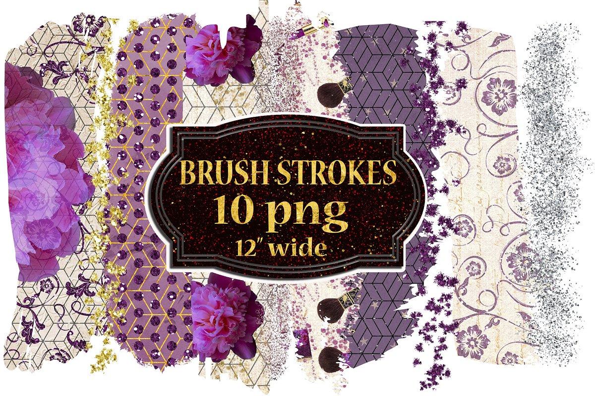 Brush Stroke Clipart,Gold Stroke